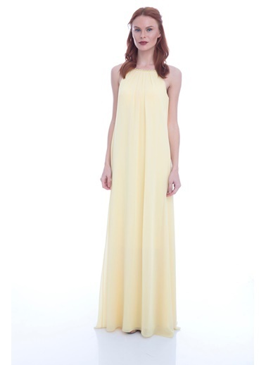 Pierre Cardin Uzun Abiye Elbise Sarı